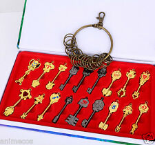 Fairy Tail keys Blade Lucy Celestial Zodiac Spirit keychain Necklace 18pcs Gift