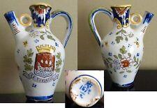 Petit Vase Soliflore en Faïence de Rouen - Souvenir de LA ROCHELLE - Blason