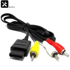 AV RCA Cable for Nintendo SNES, N64 & GAMECUBE *UK SELLER*