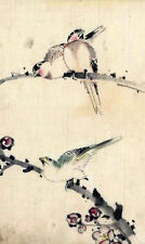 Framed Print - Vintage Asian Japanese Chinese Birds (Picture Poster Animal Art)