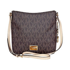 Michael Kors Jet Set Brown PVC Large Messenger Bag