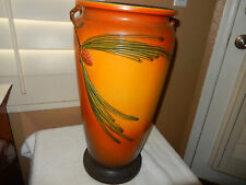 "ROSEVILLE PINECONE TWIG HANDLED  20"" FLOOR VASE UMBRELLA STAND  BROWN  MINT!!"