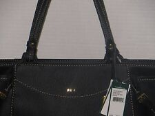 NWT Authentic Ralph Lauren Sheldon Small Tote Handbag Color Black MSRP 368