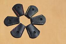 Schwarzer Endenschutz aus Leder für Langbogen oder Recurve