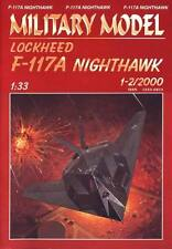 Lockheed F 117-A Nighthawk paper card model 60cm long 1:33 scale