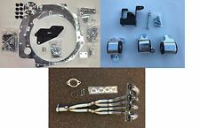 H2B Adapter Kit H22 B Series Trans Civic 96-00 EK + billet mounts + H2b header
