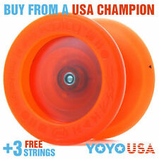 YoYoFactory Replay PRO Yo-Yo - Clear Orange  + FREE STRINGS