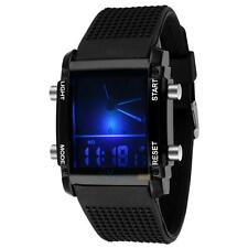 Unisex Women's Men's Digital Led Chronograph Quartz Sports Wrist Watch Silicone