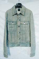 SS04 DIOR HOMME 'Strip' Bleu Clair Denim Jean Jacket 46 48 Hedi Slimane RARE