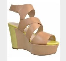 New��Clarks �� UK Size 5.5 Scorpio Moon Beige Lime Platform Wedge Sandals 39EU