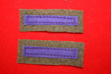 WW2 WWII BRITISH ROYAL ARMY CHAPLAIN'S DEPT CLOTH ARM BRANCH OF SERVICE STRIPES