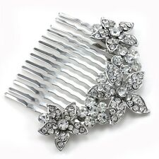 Bridal Bridesmaid Bride Wedding Flower Floral Hair Comb Beauty Pageant Prom p9
