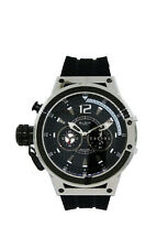 Elgin 1863 12110.1 Men's Analog Left Handed Round Black Silicone Watch