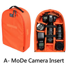 Backpack Camera Insert Bag case  Padded Dividers Protection nikon cnaon