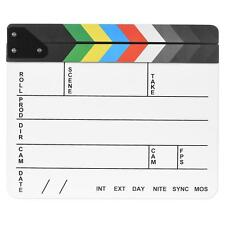 Colorful Clapboard Clap-stick Slate Clapper Board Slate for Film Movie TV F3X4