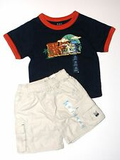 Childrens Place NEW Navy Blue & Ivory Tee Top Shorts 2-Piece Outfit Boys Sz 24M