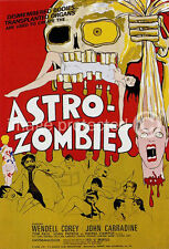 Astro Zombies Vintage Horror Movie Poster  18x24