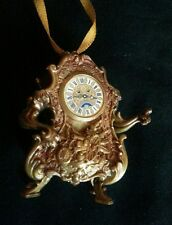 Disney New Beauty and the Beast Christmas Ornament Gold Cogsworth