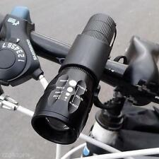 Bicycle Light LED 2500 Lumens 3 Mode Bike Front Waterproof Lamp + Torch Holder