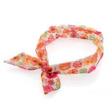 Color Estampado Floral Tela Suave Diseño De Encaje Diadema Banda Cabello Abrigo nudo con cable