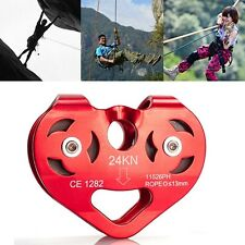 New Rock Climbing Double Trolley Pulley Bearings Outdoor Rescue Rappelling Gear