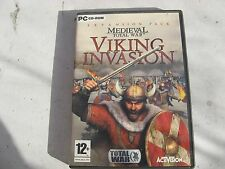 USED VIKING INVASION EXPANSION FOR MEDIEVAL TOTAL WAR PC CD  WIN98/ME/2000/XP