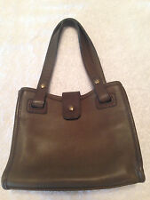 Vintage RARE COACH USA  Olive Glove Tanned  Leather Satchel Tote  Handbag 4140