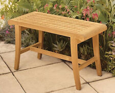 TEAK OCCASIONAL SHOWER BENCH STOOL OUTDOOR GARDEN