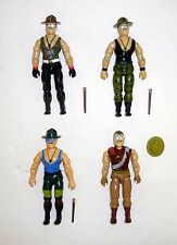 GI JOE SGT SLAUGHTER LOT Vintage Action Figures COMPLETE C9 1985 1986 1988 1989