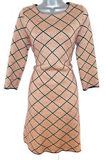 Stunning Zara Wool Mix Geometric Tile Print Evening Day Occasion Dress m = 12/14