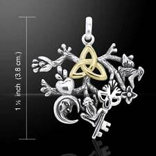 Cimaruta Witch Silver and Gold Charm by Peter Stone