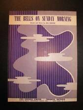 The Bells On Sunday Morning Sheet Music Vintage 1954 Bill Isbister Voice (O)