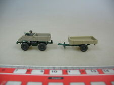 O621-0,5# 2x WIKING H0 Models GK 370/7 MB Unimog 411/37 n with trailer