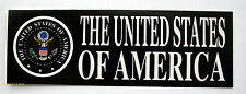 UNITED STATES OF AMERICA BUMPER STICKER ZAP FLAG US ARMY NAVY AIR FORCE  MARINES