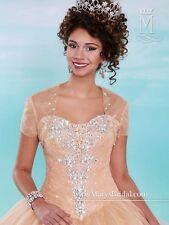Mary's Quinceanera XV Sweet 15/16 Prom Dress Ball Gown 4609 Gold Champagne sz 10