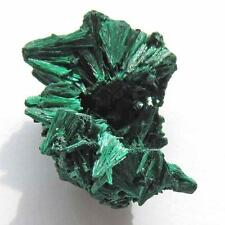 FIBROUS FOREST GREEN MALACHITE CRYSTAL SPECIMEN - FROM CONGO G385