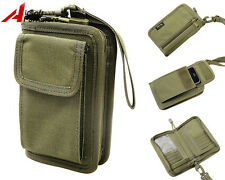 1000D Cordura Tactical Military Wallet Card Key Hand Bag Phone Pouch Olive Drab