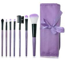 Pro 7pcs Makeup Blush Eyeshadow Lip Brush Cosmetic Brushes Set Kit + Bag Case