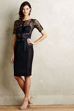 NEW Anthropologie Carissima Sheath Sz 6 Navy Dress -by Byron Lars