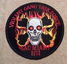 FL Miami Florida Violent Gang Task Force Police Patch