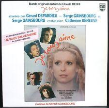 SERGE GAINSBOURG BO FILM Je vous aime LP 33T 1980 / PHILIPS 6313.123