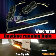 Switchback White/Amber High Power LED DRL Daytime Running Turn Signal Lights