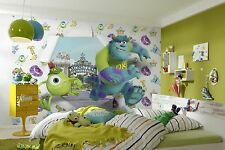 papel pintado fotomural MONSTERS UNIVERSITY Decoración pared para niños y niñas