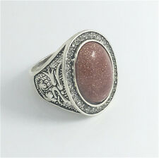 Vintage Woman 316L Stainless Steel Vogue Design Mini Stone Ring Size 9  NEW  !!!