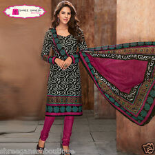 LATSEST PRINTED COTTON UNSTITCHED SALWAR KAMEEZ DRESS MATERIAL SUITE 5555