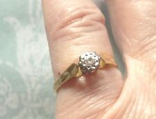 18 CRT GOLD  SOLITARE DIAMOND RING