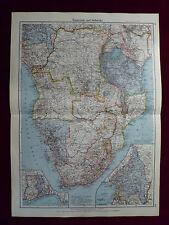 Landkarte Äquatoriales und Südafrika, Carl Wagner, 1941