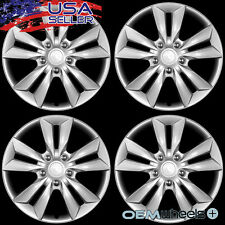"4 NEW OEM SILVER 16"" HUB CAPS FITS CHEVROLET CHEVY CENTER TRUCK WHEEL COVERS SET"
