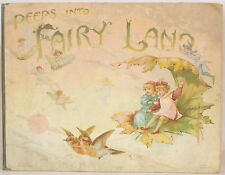 1896 PEEPS INTO FAIRYLAND Weatherly Nister-Dutton RARE EARLY POP-UP Fairy Land