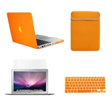 "4in1 Rubberized ORANGE Case for Macbook PRO 13"" +Keyboard Cover +LCD Screen+ Bag"